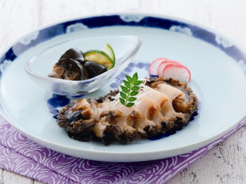 「壱膳」長崎県産黒あわび煮貝