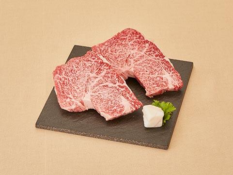 佐賀「松尾勝馬牧場」伊萬里牛モモ霜降りステーキ