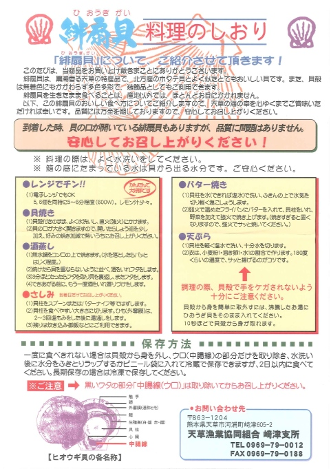 熊本・天草「天草漁業協同組合」天草産ヒオウギ貝