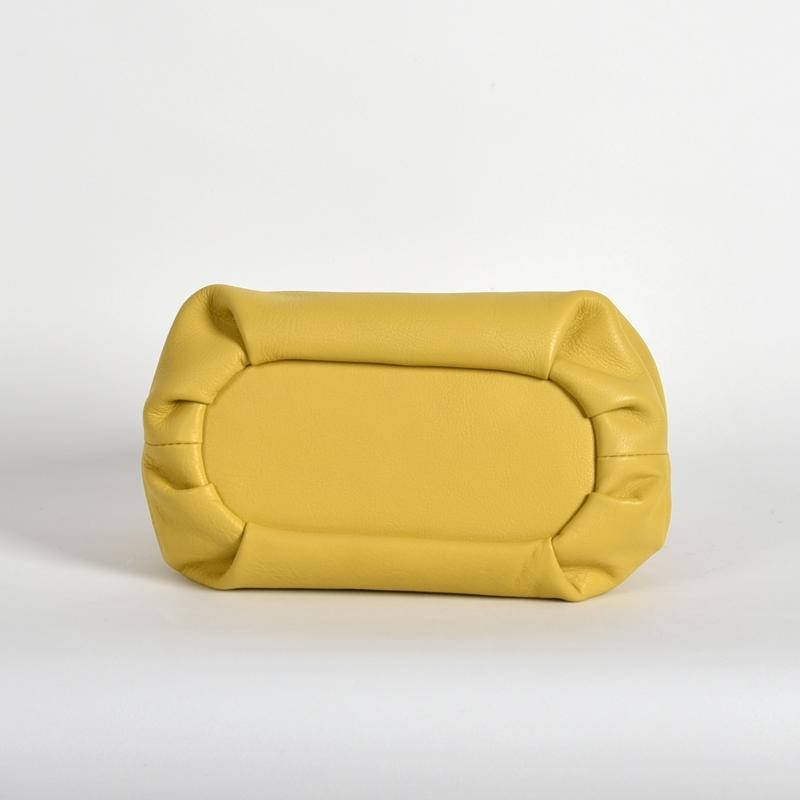 【LB × C コラボ商品】フレームソフトレザーバッグ S レモンケーキ(lemon cake)