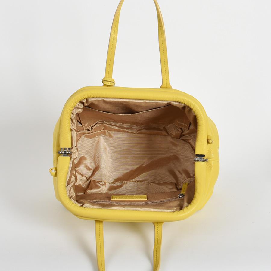 【LB × C コラボ商品】フレームソフトレザーバッグ M レモンケーキ(lemon cake)