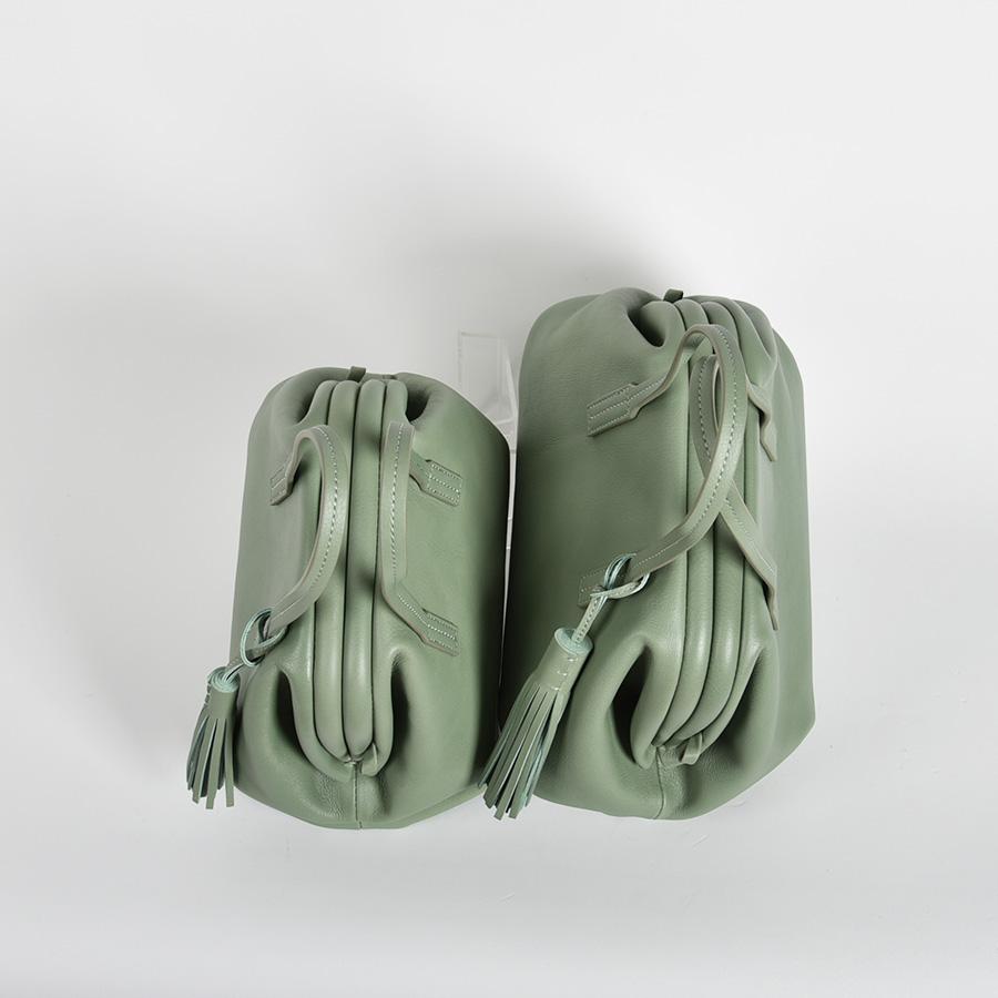 【LB × C コラボ商品】フレームソフトレザーバッグ M ミントスムージー(mint smoothie)