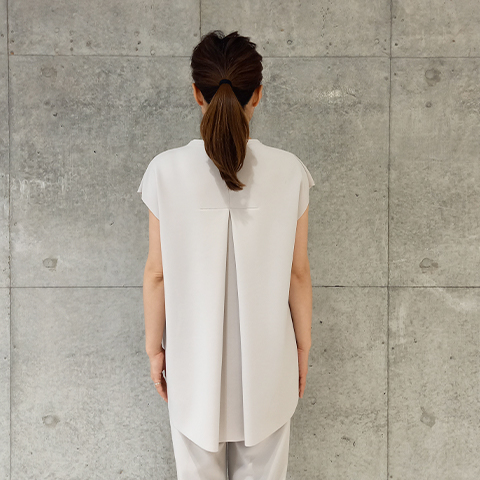 2021`Spring【Aqua】フレンチBackタックベスト【3128791】