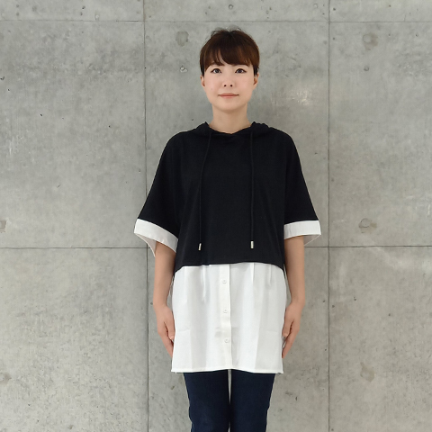 2021` Spring/Summer布帛切替チュニックプルオーバー【 Z6470】