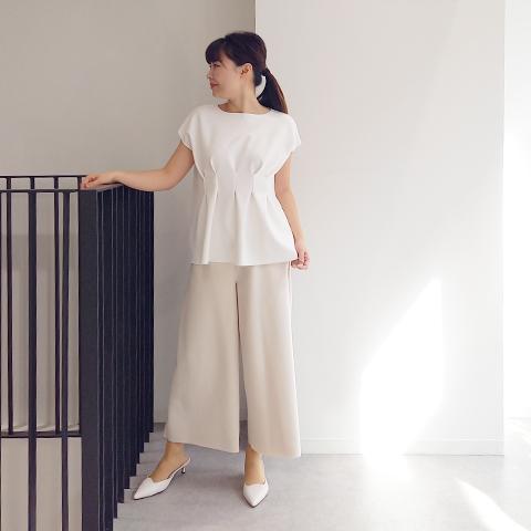 2021`Autumn/Winter 【Aqua】ポケット付きワイドパンツ  【6229790】