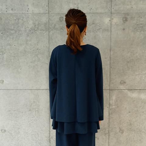 2021`Autumn/Winter 【Aqua】ティアードフリルチュニックプルオーバー 【1129791】