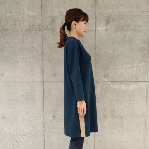2021`Autumn/Winter 【Aqua】バイカラーワンピース 【5129791】