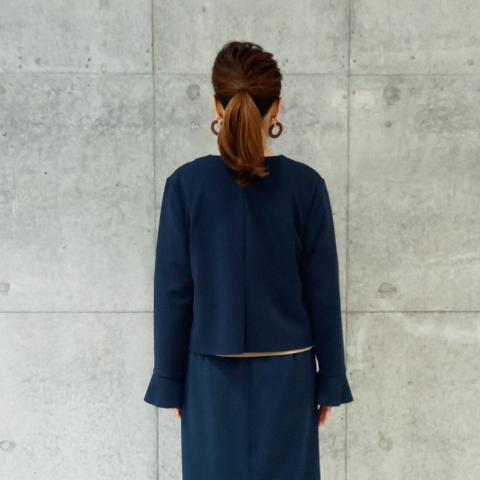 2021`Autumn/Winter 【Aqua】袖フリルショートジャケット 【8529790】