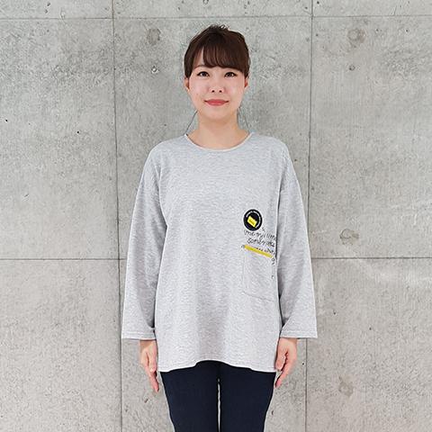 2021`Spring 胸プリントチュニックプルオーバー 【240109】