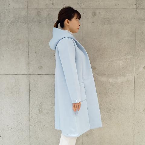 2021`Autumn/Winter 【PONCHI】フード付きロングコーディガン  【4221502】