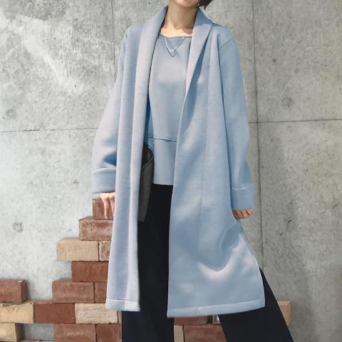 2020`秋冬【PONCHI】 ロング コーディガン 【4225502】