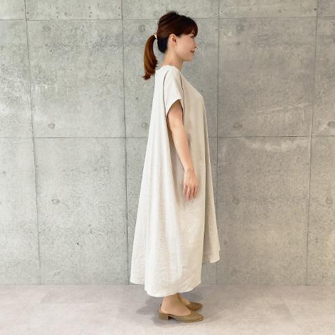 2021`年Spring/Summer ストレッチリネンワンピース【5126703】