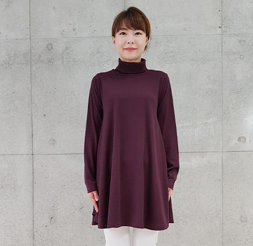 2020年秋冬ハイネックロング丈プルーオーバー 【1117545-27】