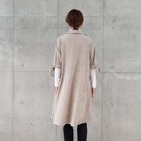 2020`秋冬スウェード袖リボンワンピースト 【68708】