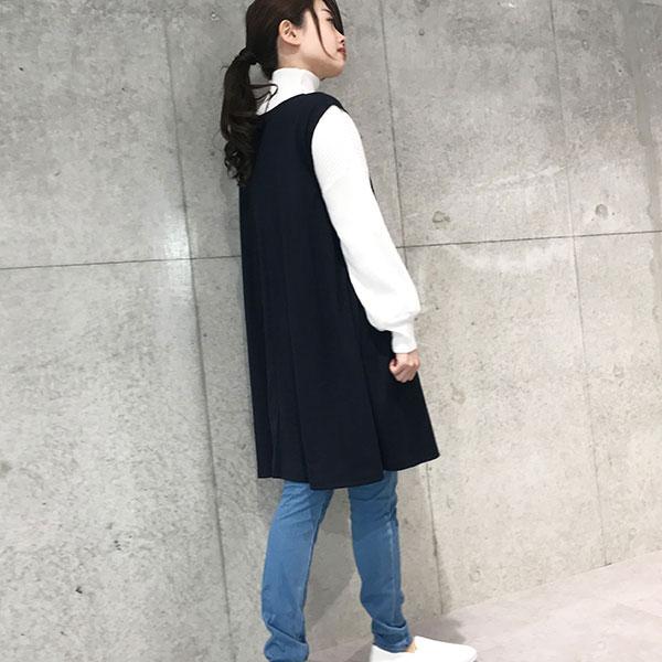 2019秋冬 Aラインロングベスト Aライン ロングベスト 【193504】