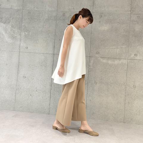 2021`Autumn/Winter【Aqua】 裾変形チュニックベスト 【3129790】