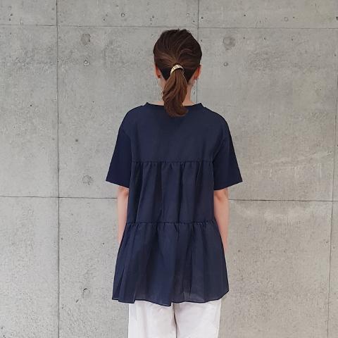 2021` Spring/Summerバックティアードロング丈プルオーバ 【1328509】