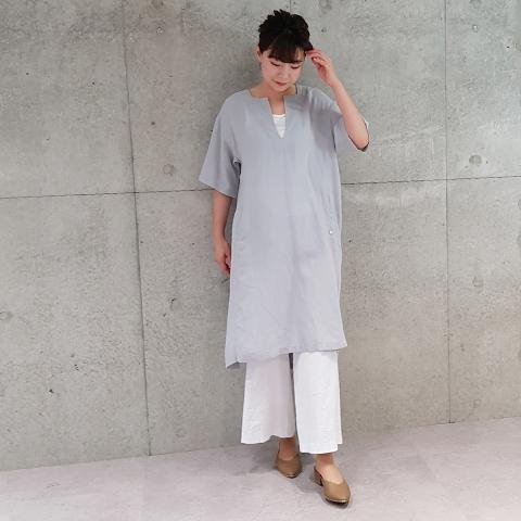 2021` Spring/SummerカフタンVあきワンピース 【SA1258】
