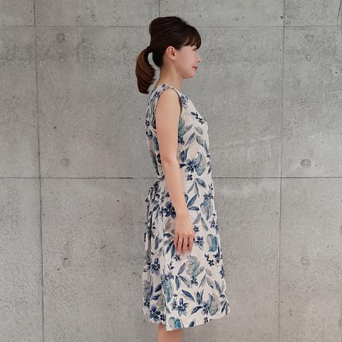 2021`Spring/SummerLinen/Cotton花柄ワンピース【5128752】