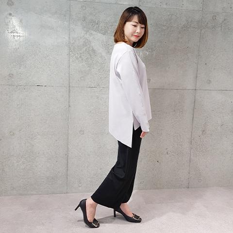 2020`秋アンバランス斜め裾プルオーバ【1127503】