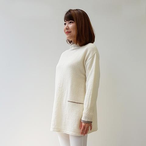 2020`秋冬配色ラムウールセーター【2127701】
