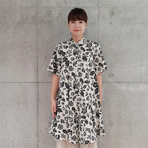 2021`Spring/Summer花柄シャツワンピース【5128750】