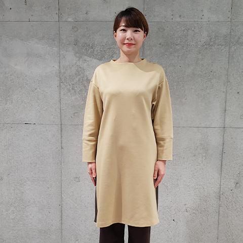 2020`秋冬ラグウォームポンチバイカラーワンピース 【5127790】