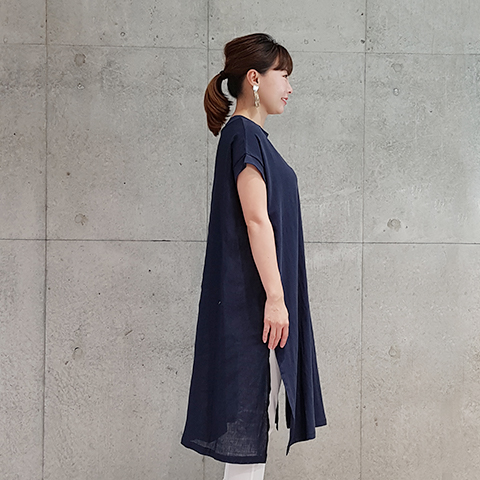 2021` Spring/Summerバック布帛カットソーワンピース 【SK1213】