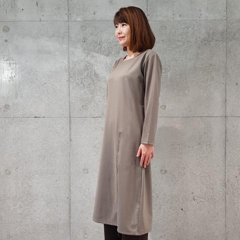 2020`秋冬飾りファスナー2wayワンピース 【5127502】