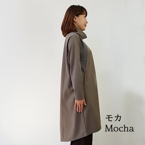 2020`秋冬スウェード配色ハイネックワンピース 【5125504-27】
