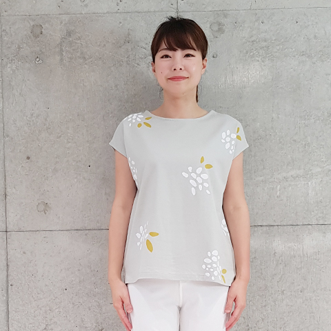 2021` Spring/Summer紫陽花プリントTシャツ 【SW1278】