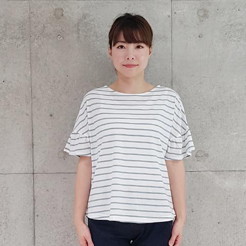 2021` Spring/Summerフリルギャザー袖Tシャツ 【SB1273】
