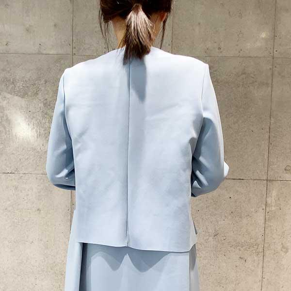 【Aqua】2020春  ショート丈タックジャケット 軽いジャケット 【4226701】