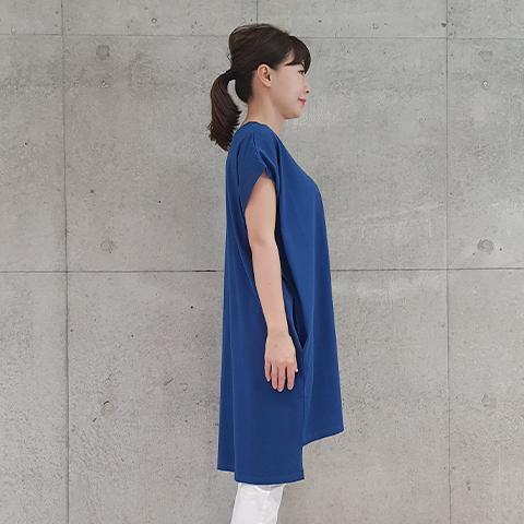 "2021` Spring/Summer""Blue Bee""プリント綿ワンピース 【1328514】"