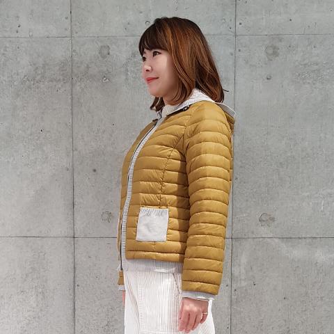 2020`秋冬ライトダウンニット使いジャケット 【241020】