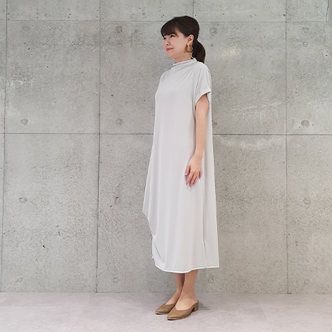 "2021` Spring/Summer""Puluri""ハイネックショートスリーブワンピース 【5129790】"