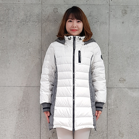 2020`秋冬ニット切替ダウンフーディージャケット 【68570】