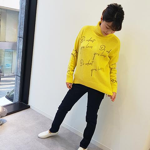 2020`秋冬英字ロゴニットセーター【0957024】