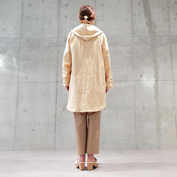 2020春夏リネンフード配色コーディガン 【4226503】
