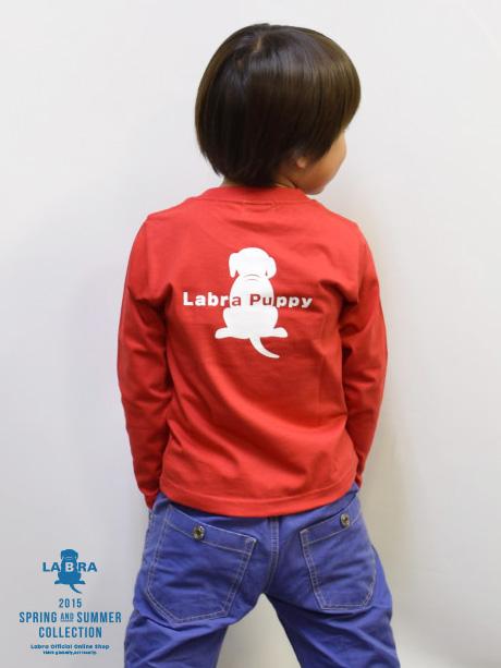 Kid's 【定番】バックロゴプリント長袖Tシャツ [ネコポス対応]