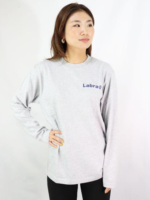 Lady's 【定番】バックロゴプリント長袖Tシャツ [ネコポス対応]