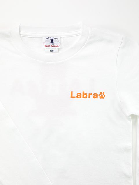 【定番】バックロゴプリントホワイトボディ長袖Tシャツ [ネコポス対応]