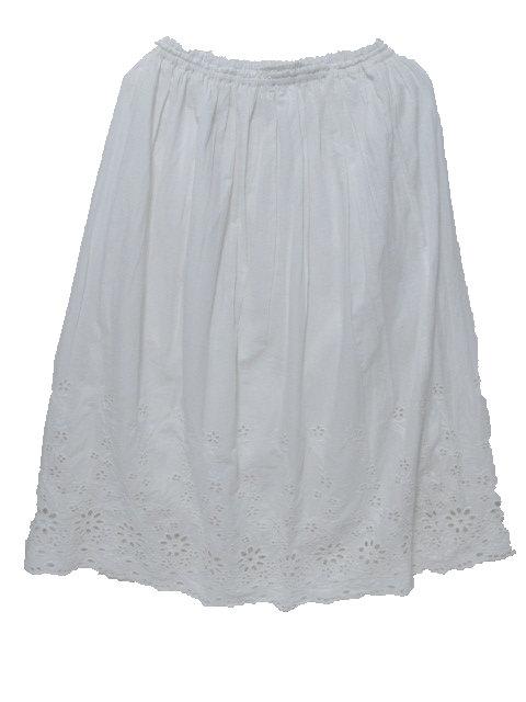 スカラップ刺繍スカート