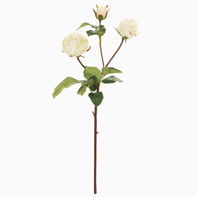 ローズアコール ホワイト(東京堂/FW034051-001, FW34051)【アーティフィシャルフラワー(高級造花)】