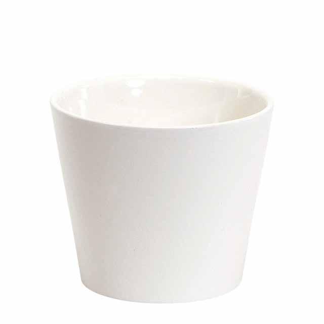 カラーベースラウンドS #100 シャイニーホワイト(東京堂/CC144761-100, CC144761)【フラワーベース(花器)】