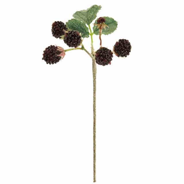 ジューシーラズベリーピック ブラック(東京堂/FM008707-020, FM8707)【アーティフィシャルフラワー(高級造花)】