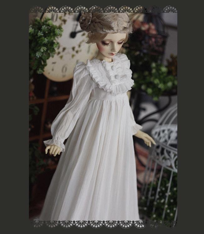 【即納60cm男/70cm男】洋風ホワイトロングドレス