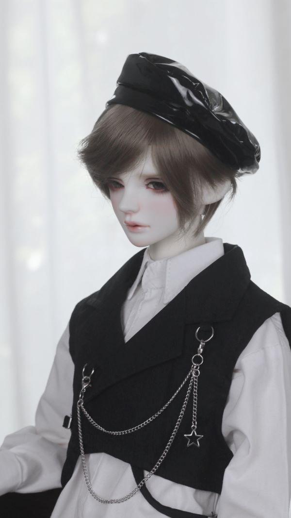 【受注40-75cm】シャツベスト帽子付きスタイル�【三色】