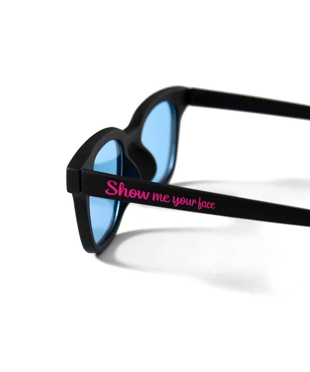 【受注予約:6月下旬頃発送】SAMPLES サンプルズ SHOW ME YOUR FACE SUNGLASS サングラス BLACK×BLUE ブラック×ブルー