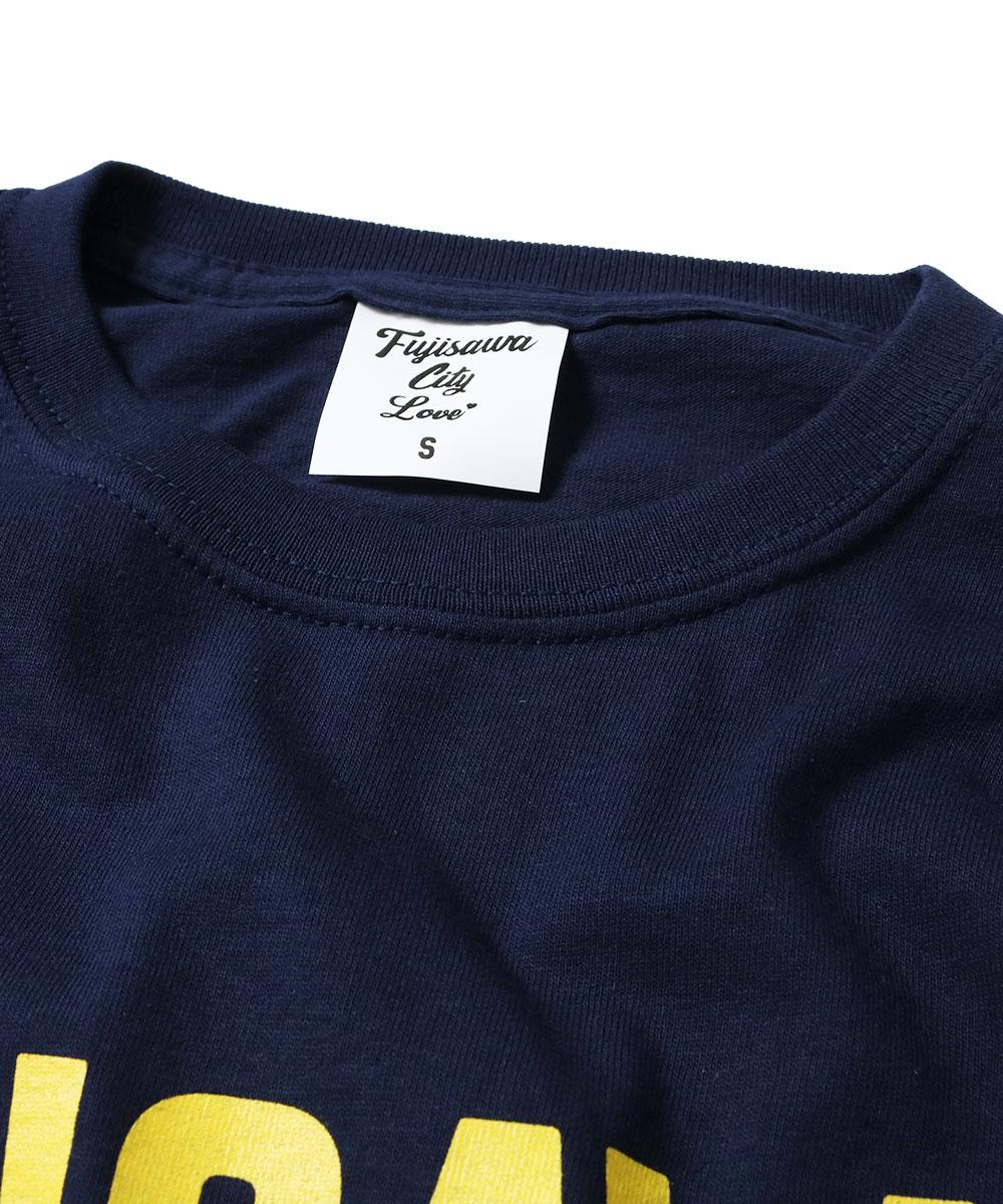 FUJISAWA CITY フジサワシティ LOGO TEE 半袖 Tシャツ NAVY×YELLOW ネイビー×イエロー